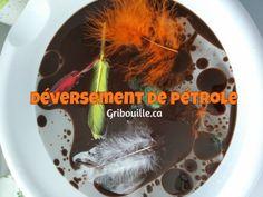 Déversement de pétrole - activité sensorielle pour enfants - par Gribouille éducatif Sensory Activities, Children
