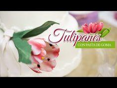 Tulipanes con pasta de goma - YouTube