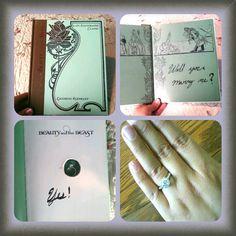 Proposal at Disneyland using my favorite Disney princess storybook