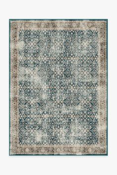 Celestine Teal Blue Rug | Washable Rug | Ruggable Coral Rug, Navy Rug, Black White Rug, Machine Washable Rugs, Earthy Color Palette, Farmhouse Rugs, Floral Theme, Natural Rug, Houses