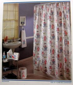Nick and Nora Home Hogwash Pig Shower Curtain New in Package Cotton Dream Team #NickNoraHome #Whimsical
