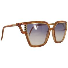 1b77a26557 Vintage Ted Lapidus Paris Tortoise Gold 1970 Sunglasses France Ted Lapidus