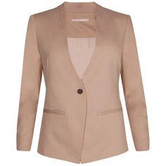 AllSaints Masson Collarless Blazer ($378) ❤ liked on Polyvore