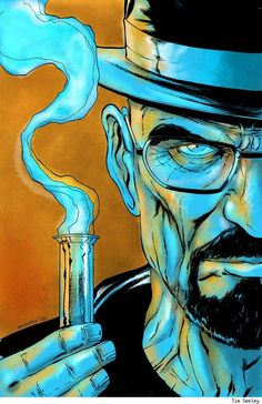 Walter White, by Tim Seeley 25 Best Pieces Of Breaking Bad Fan Art Breaking Bad Arte, Serie Breaking Bad, Beaking Bad, Bad Fan Art, Pop Art, A4 Poster, Bild Tattoos, Walter White, Arte Horror