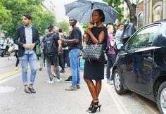 Shala Monroque - Milan Fashion Week Spring 2015.  (September 2014)