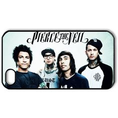 ByHeart pierce the veil Hard Back Case Shell Cover Skin for Apple... ($16) ❤ liked on Polyvore featuring accessories, tech accessories, phone cases, phones, band merch y electronics