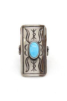 Fashion Trendy Unique Rétro Gemme Bleu Turquoise Bague Forme Ovale Indian
