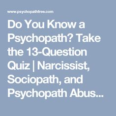 Are you dating a sociopath test question