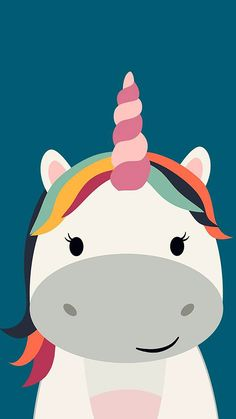 Videos about cute, wallpaper and kawaii on we heart it - the app to get los Unicorn Logo, Unicorn Graphic, Unicorn Art, Cute Unicorn, Rainbow Unicorn, Unicornios Wallpaper, Cute Wallpaper Backgrounds, Cellphone Wallpaper, Cute Cartoon Wallpapers