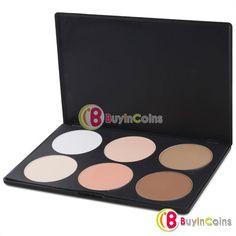 6 Color Makeup Cosmetic Blush Blusher Contour Palette 1# -- BuyinCoins.com