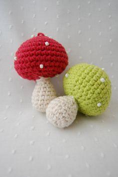 mushroom ornaments by emilylbaum on Etsy, $12.00