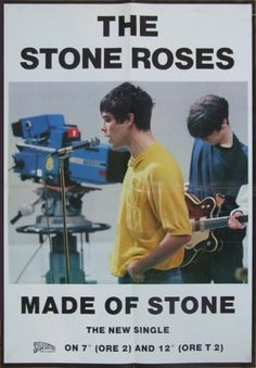 The Stone Roses, Poster - 1989 - Manchester Digital Music Archive Rock Posters, Band Posters, Music Posters, Film Posters, Music Love, Rock Music, Recital, Rock Indé, Stone Roses