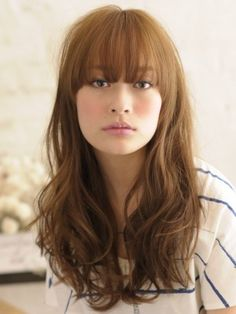 For my face shape? Diy Hairstyles, Pretty Hairstyles, Hair Addiction, Japanese Hairstyle, Long Layered Hair, Asian Hair, Mermaid Hair, Hair Photo, Great Hair