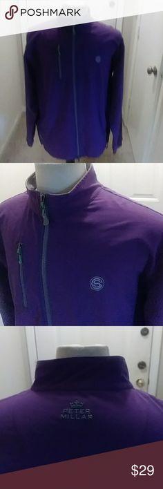 Peter millar This sale is for men peter millar purple soft shell jacket element 4 size large full zipper Peter Millar Jackets & Coats Lightweight & Shirt Jackets