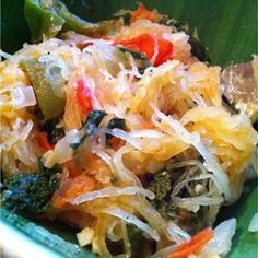 "Spaghetti Squash Primavera | ""It makes a great vegetarian main course, or a nice accompaniment to a meat entree."""