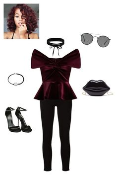"""""""Velvet"""" by iamzcookie ❤ liked on Polyvore featuring Frame, Boohoo, Emilio De La Morena, Ray-Ban, Alex and Ani and Gucci"""
