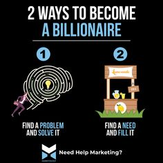 2 Ways To Become a Billionaire Sales And Marketing, Internet Marketing, Marketing Professional, Marketing Consultant, 2 Way, Business Motivation, Marketing Strategies, Inspire Others, Virtual Assistant