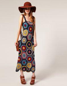 ~I have a terrific stash of garment wt cotton in about a dozen colours~ People Tree Crochet Maxi Dress Moda Crochet, Crochet Yarn, Knit Crochet, Freeform Crochet, The Dress, Dress Skirt, Crochet Woman, Crochet Fashion, Crochet Clothes