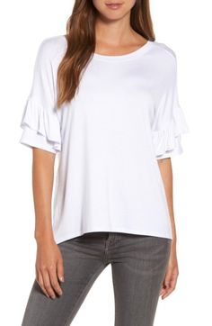 Chelsea28 Chelsea28 Ruffle Sleeve Tee available at #Nordstrom