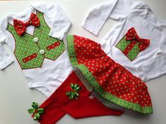 Sibling Christmas Outfits, Christmas Twins, Sister Brother Holiday Outfits, Brother Sister Outfit, Big Sister Little Brother by SweetTootsy on Etsy