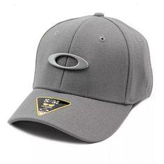 Boné Oakley Tincan Cap Grigo Scuro logotipo frontal em metal 9ed564fea48
