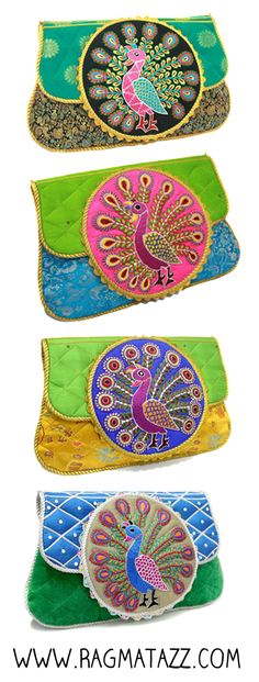 Peacock clutches by Ragmatazz
