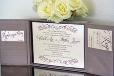 Custom Design Silk Box Invitation.  Get yours through http://www.simplypersonal.com/k-scott-weddings