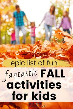 Enjoy an awesome Autumn experience with your family using these amazing ideas and resources for fun fall activities for kids.