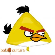 Balão Angry Birds Amarelo SS