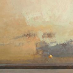Peter Beeson, Morning Cloud, St Ives Bay...printmaking putting the sun in afterwards?