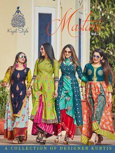Get kajal style mastani vol 1 cotton kurtis new launched wholesale catalog. Kajal style mastani no 1 Kurtis wholesaler in surat. Pakistani Dress Design, Pakistani Dresses, Indian Dresses, Indian Outfits, Western Dresses, Printed Kurti Designs, Kurta Designs, Blouse Designs, Dress Designs