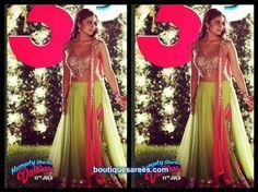 Pink green lehenga alia bhatt