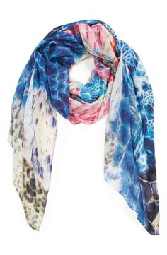 Caruncle Reptile Print Scarf by Front Row Society - Found on HeartThis.com #HeartThis