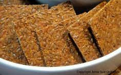 Flax BBQ Crackers (dehydrated) - lots of great recipes on this site.