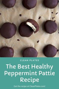 Healthy Holiday Recipes, Holiday Meals, Winter Recipes, Quick Snacks, Healthy Snacks, Low Sugar Desserts, Patties Recipe, Peppermint Patties, Homemade Candies