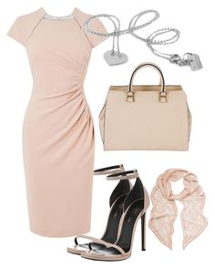"""""""fashion set with silver necklace."""" by lorentzandco ❤ liked on Polyvore featuring Yves Saint Laurent, L.K.Bennett, Victoria Beckham and Mulberry"""