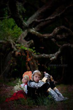 Ruslan and Lyudmila, fairytale photography, fable shoot, Ruslan and Lyudmila, Pushkin, Russian costume, knight costume, story book by Tamara Knight Photography