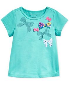 First Impressions Baby Girls' Short-Sleeve Confetti Butterfly Bow T-Shirt, Only at Macy's