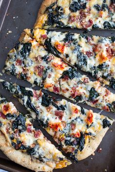 Brown Butter Lobster and Spinach Pizza with Bacon + Fontina | halfbakedharvest.com