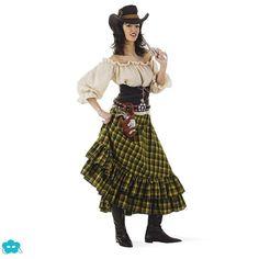Disfraz de vaquera bandida para mujer talla grande