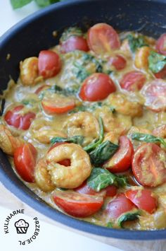 Food Art, Potato Salad, Shrimp, Seafood, Dinner Recipes, Food And Drink, Tasty, Healthy Recipes, Cooking