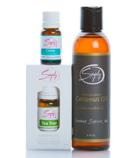 Incorporating these Beauty Care oils into your daily skincare regimen can improve the clarity, reduce and the effects of aging and nourish your skin.    Beauty Care Pk #4 Includes:     1 - Claire 10mL  1 - Tea Tree 10mL  1 - Fractionated Coconut Oil 6oz www.simplyaroma.com/susanreynolds