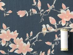 Flora Songbird Cotton Lawn - Navy & Pink - Fabric Godmother