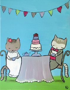 They had been sweethearts since they were little kittens and their love only grew stronger over the years. Their wedding was in the summer, and