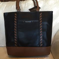 Tignanello Handbag Tote Lacey Shoulder Leather Black Saddle NWT  175.00   Tignanello  TotesShoppers Tignanello 0b1ce21181749