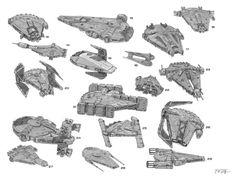 Solo: A Star Wars Story concept art showcases alternate Millennium Falcon designs Star Wars Icons, Star Wars Rpg, Star Wars Ships, Star Trek, Spaceship Design, Spaceship Concept, Concept Ships, Millennium Falcon, Cyberpunk