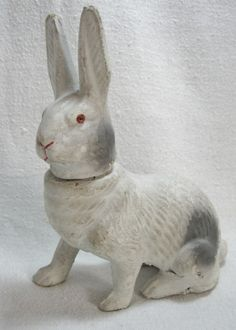 Early Composition German Rabbit Candy Container...