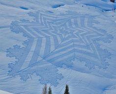 """Unbelievable Snow """"Crop"""" Circles"""