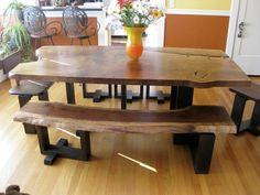 Rustikale Möbel Esstisch Holz Esszimmer Pflanzen