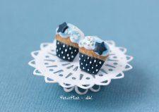 ••   Aretes de Starry Night Blue Cupcake